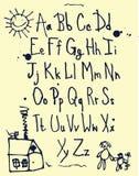Het alfabet van jonge geitjes Stock Afbeelding