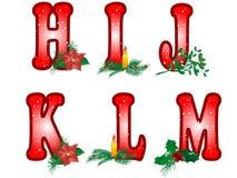 Het alfabet van Kerstmis Stock Fotografie