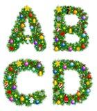 Het Alfabet van Kerstmis Stock Foto's