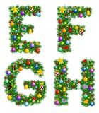 Het Alfabet van Kerstmis Royalty-vrije Stock Foto's