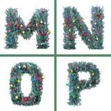 Het Alfabet van Kerstmis van Nice Stock Foto