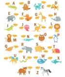 Het alfabet van kinderen met dieren stock illustratie