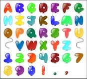Het Alfabet van Themed van de ballon Royalty-vrije Stock Foto's