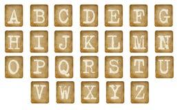 Het alfabet is verfraaid Stock Afbeelding