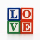 Het alfabetblokken van het stuk speelgoed. Stock Afbeelding