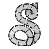 Het alfabetbrief van de filmstrook stock illustratie