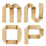 Het alfabetbrieven gerecycleerde document van de origami ambacht Royalty-vrije Stock Foto