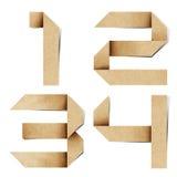 Het alfabetbrieven gerecycleerde document van de origami ambacht Stock Afbeelding
