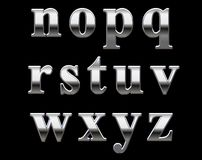 Het alfabetbrieven van het chroom   Stock Afbeelding