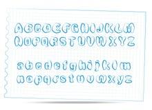 Het alfabetkrabbel van de schets stock illustratie