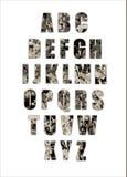 Het alfabetleger van Grunge Stock Afbeeldingen