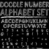 Het alfabetreeks van het krabbelaantal Royalty-vrije Stock Afbeelding