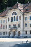 Het Algemeen Rijksarchief van Liechtenstein, Vaduz, Liechtenstein stock afbeeldingen