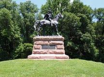 Het algemene Anthony Wayne-standbeeld in Vallei smeedt Stock Foto
