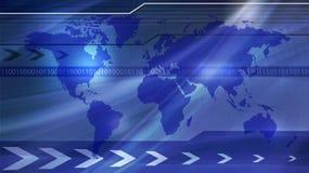Het algemene concept van de Wereld en van de Technologie? Stock Fotografie