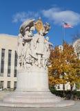 Het algemene herdenkingsstandbeeld van George Meade stock foto
