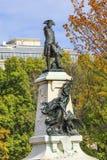 Het algemene Rochambeau-Park Autumn Washington gelijkstroom van Standbeeldlafayette royalty-vrije stock afbeelding