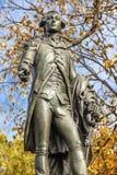Het algemene van het Standbeeldlafayette van Lafayette Park Autumn Washington gelijkstroom stock afbeelding