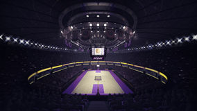 Het algemene vooraanzicht van het basketbalhof Royalty-vrije Stock Foto's