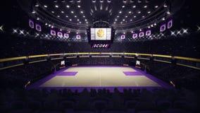 Het algemene zijaanzicht van het basketbalhof Royalty-vrije Stock Foto's