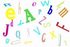 Het allegaartje van het alfabet stock afbeeldingen