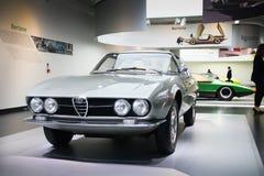 Het alpha- model van Romeo Giulia Sprint Speciale Prototype op vertoning bij het Historische Museum Alfa Romeo stock fotografie