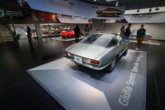 Het alpha- model van Romeo Giulia Sprint Speciale Prototype op vertoning bij het Historische Museum Alfa Romeo royalty-vrije stock afbeelding