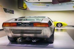 Het alpha- model van Romeo Italdesign Iguana op vertoning bij het Historische Museum Alfa Romeo royalty-vrije stock afbeelding