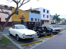Het alpha- Romeo Giulietta Sprint Speciale stelde in Lima tentoon Stock Fotografie