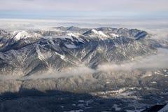 Het Alpiene panorama van de winter Stock Afbeelding