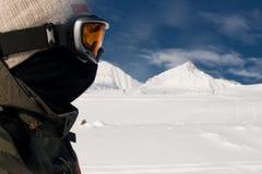 Het alpiene skiån Royalty-vrije Stock Afbeeldingen