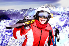 Het alpiene ski?en Stock Foto