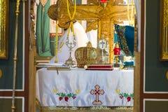 Het altaar van de kerk Stock Fotografie