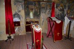 Het altaar van de kerk Stock Foto