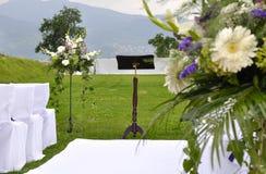 Het altaar van het huwelijk stock afbeeldingen