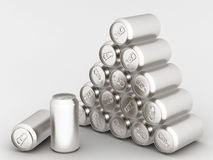 Het aluminium kan royalty-vrije illustratie