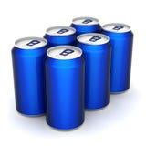 Het aluminium kan stock illustratie