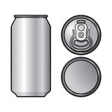 Het aluminium kan vector illustratie