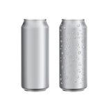 Het aluminium kan drinken soad of biermalplaatje Stock Afbeelding