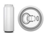 Het aluminium kan voor kola stock illustratie