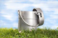 Het aluminium van de melkkruik Royalty-vrije Stock Afbeeldingen
