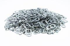 Het aluminium van de ringstrekkracht van blikken stock afbeelding