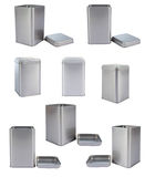 Het aluminiumDoos van de inzameling Royalty-vrije Stock Foto