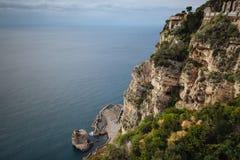 Het Amalfi Italiaanse Kustmiddellandse-zeegebied, stock afbeeldingen