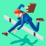 Het ambitieuze vectorconcept van bedrijfsveranderingsjob ambitions Stock Foto's