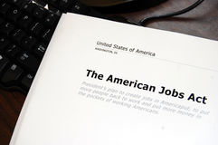 Het Amerikaanse Akte van Banen Stock Foto