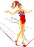 Het Amerikaanse Circus van de Vlag Stock Foto