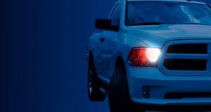 Het Amerikaanse close-up van de Bestelwagenauto Stock Afbeeldingen