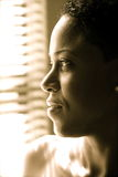 Het Amerikaanse de dame van Afro kijken Royalty-vrije Stock Afbeelding
