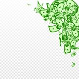Het Amerikaanse dollarnota's vallen Slordige USD-rekeningen  royalty-vrije illustratie